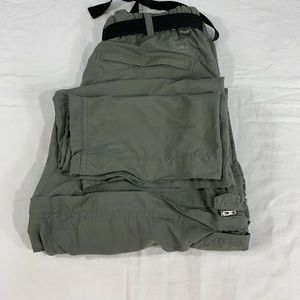 REI tactical 32 Mens Hiking Pants Zip Off